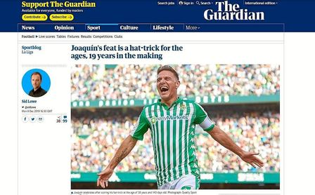 'The Guardian' se rinde a Joaquín