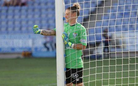 La guardameta del Sporting de Huelva, próximo rival de las heliopolitanas, atiende a ESTADIO