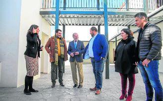 Visita del presidente de la Diputación, Fernando Rodríguez Villalobos.
