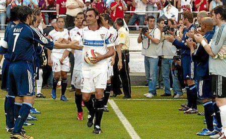 Pasillo del Madrid al Sevilla en la temporada 05/06.