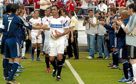 El Madrid hizo el pasillo al Sevilla en 2006.