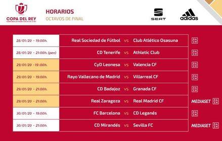 Horario y televisión del Mirandés-Sevilla de la Copa del Rey