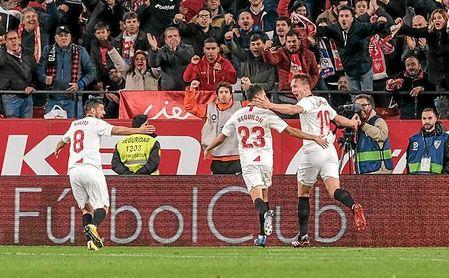 Nolito y De Jong dos apuestas de Lopetegui, brillaron sobremanera ante el Granada CF.