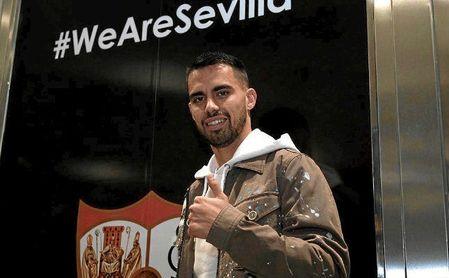 Suso, a su llegada a Sevilla.
