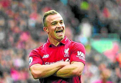 El Liverpool ha colocado en el mercado al suizo Xherdan Shaqiri.