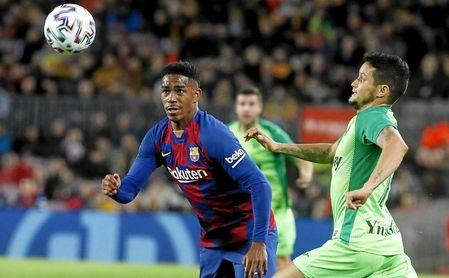 Junior, en el partido de Liga ante el Leganés.