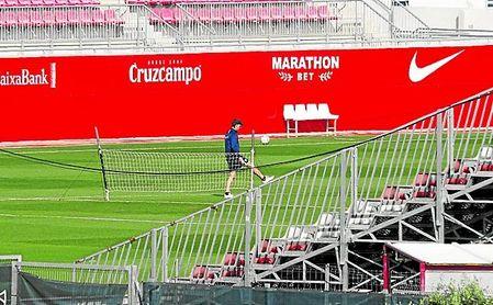 La plantilla del Sevilla F.C., al igual que el resto, no puede entrenarse con normalidad.