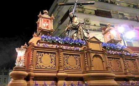El Santísimo Cristo de la Corona, que cada Viernes de Dolores sale del Sagrario de la Catedral.