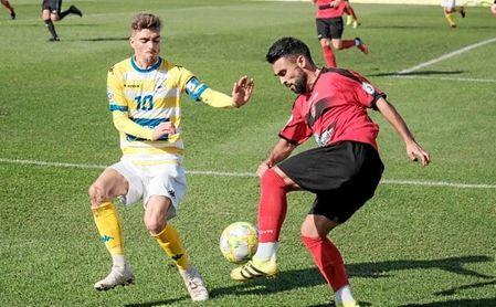 Imagen del partido disputado entre el Coria y el Gerena en el estadio Guadalquivir.