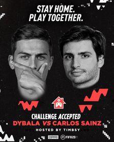Sainz y Dybala se retan en un España-Argentina virtual