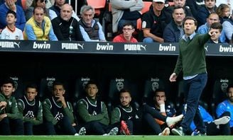 El entrenador del Real Betis Joan Francesc Ferrer Sicilia, ´Rubi´.