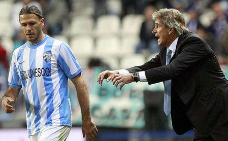 Demichelis, ya retirado, y Pellegrini, favorito para el banquillo del Betis, coincidieron en el Málaga y en el City