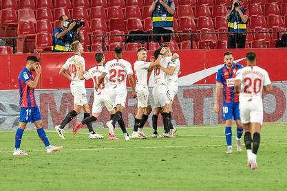 Sevilla FC-Eibar en directo: crónica, resumen y goles