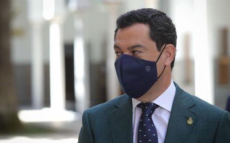 Juanma Moreno propondrá el lunes el uso obligatorio de mascarilla en Andalucía.
