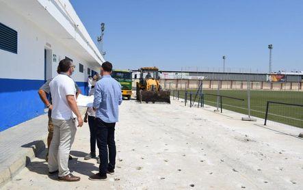 El Estadio San Sebastián de Los Palacios cambia de aspecto