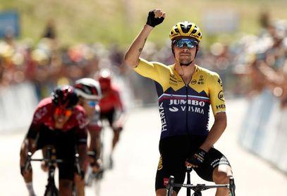 El esloveno Roglic se hace con la segunda etapa y el liderato, Bernal segundo