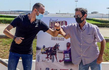 El atleta Toni Abadía desafía al caballo ?Variuso du Bouffey? en Palma