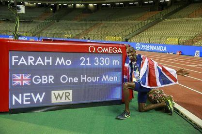 El británico Mo Farah establece un nuevo récord de la hora