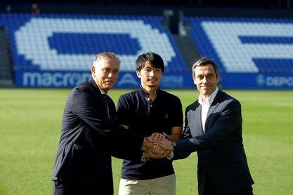 El japonés Shibasaki se despide del Dépor enamorado de A Coruña