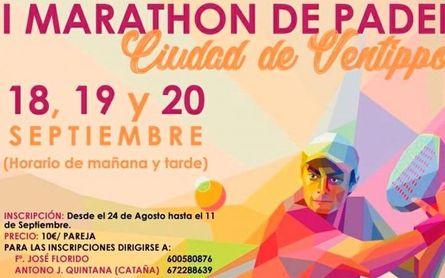 Los casos de covid hacen peligrar el Maraton de Pádel de Casariche