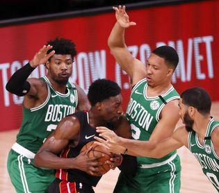 117-106. Brown y Tatum imponen su clase y dan el primer triunfo a los Celtics