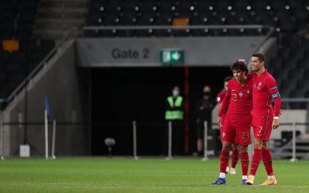 Cristiano, João Félix, Jota y Trincão, el ataque de Portugal contra España