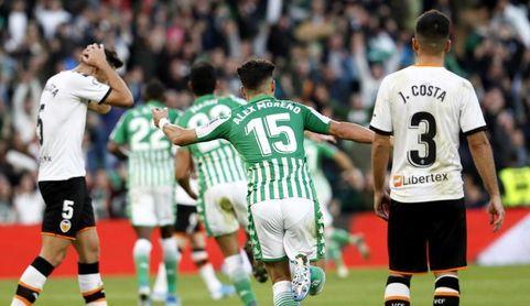 El Valencia sumó en la última visita al Betis su triunfo 40 en 53 ediciones de duelo