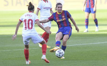 El Barça arrolla al Sevilla para meterse en la final de la Copa de la Reina (6-0)