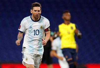 1-0. Messi anota de penalti y Argentina se estrena con triunfo ante Ecuador
