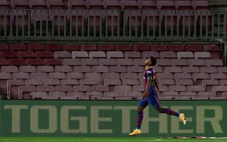 Ansu Fati, mejor jugador del mes de septiembre en LaLiga Santander