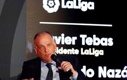 """Tebas: """"El tren de LaLiga sigue viajando incluso sin Cristiano ni Neymar"""""""