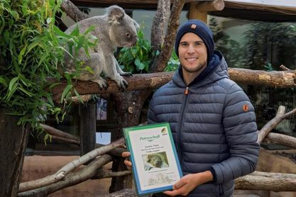 Dominic Thiem apadrina al primer koala nacido en el zoo de Viena