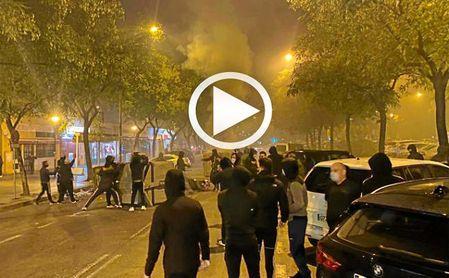Noche de altercados en Pino Montano en protesta por el estado de alarma .