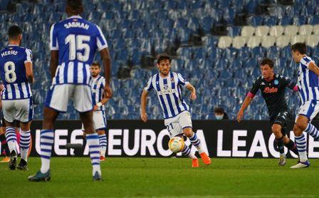 0-1: La diferencia de tino castiga a la Real ante el Nápoles
