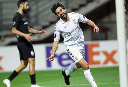 Gaitán debuta con gol en el Braga