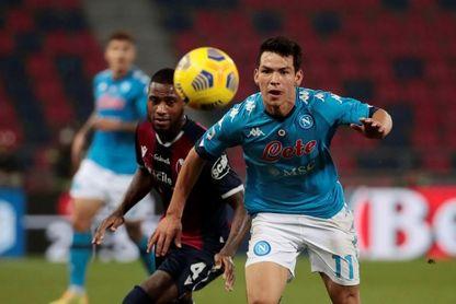 Lozano asiste en el triunfo por 1-0 del Nápoles en Bolonia