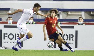 Bryan Gil está destacando con la selección española sub 21.