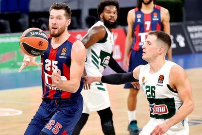93-72. El Baskonia despacha al Panathinaikos con defensa y triples