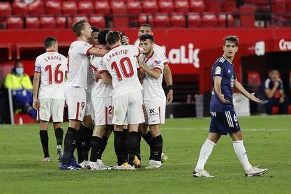 4-2. La ambición del Sevilla tumba al Celta en la recta final