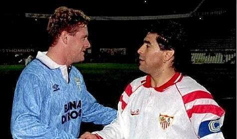Maradona, Gascoigne y las copas antes de un Sevilla FC-Lazio