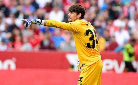 Javi Díaz ha reaparecido hoy con el Sevilla Atlético.