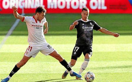 Munir cayó lesionado contra el Real Madrid.