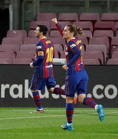 1-0. Messi da oxígeno al Barça