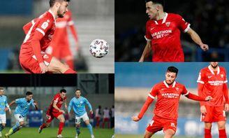Óscar e Idrissi fueron, probablemente, los más destacados del Sevilla FC en Lucena.