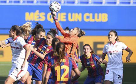 6-0: Otro set del Barça a un Sevilla Femenino que acabó con diez