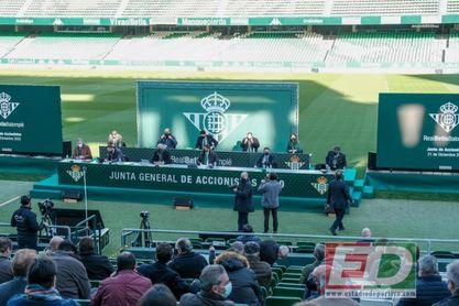 Una imagen de la pasada Junta General Ordinaria de Accionistas del Real Betis.