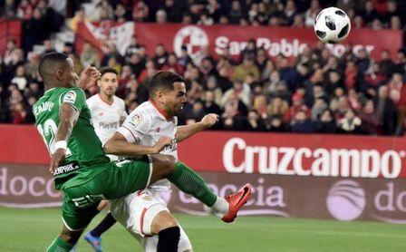 El Sevilla pasó de ronda en su único precedente copero ante el Leganés