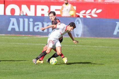 Navas, en una imagen previa a su lesión del Sevilla FC-Real Sociedad.