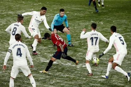 0-0. Osasuna y el frío congelan al Real Madrid