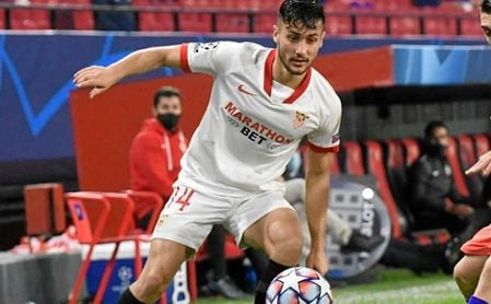 Óscar Rodríguez entró al campo en el minuto 59 contra el Atlético.